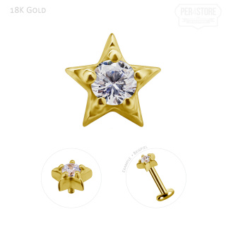 18K Gold Int. Star w premium Zirconia