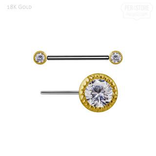 18K Gold & Titan w Prem Zirconia 1.6x14x4.5/4.5mm