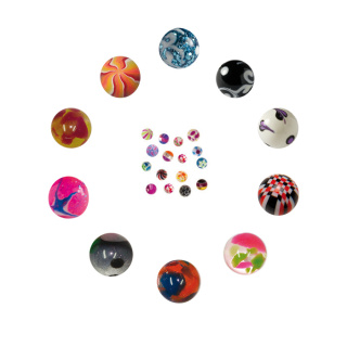 Acrylic Ball (Mix) - 100 pcs