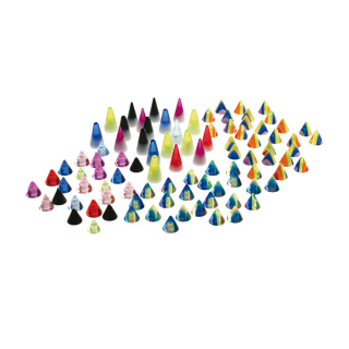 Acrylic Cone - 100 PCS MIX