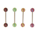Barbell with UV Ball (Mix) - 10 PCS 1.6