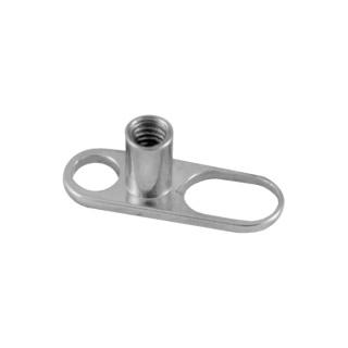 Titan Microdermal Base. 2 Holes for Implants piercings. 2