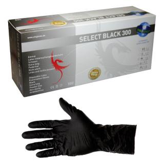 Unigloves Select Black  Powder Free extra long