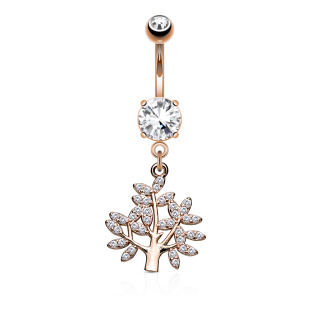 Life Tree 1.6 x 10 mm Banane 316L RG plated
