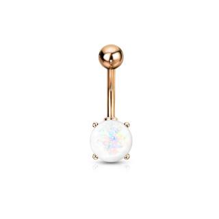 IP Plated Opal Glitter Prong Set 1.6 x 10 mm