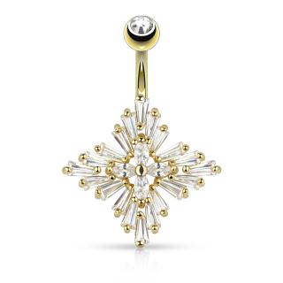 Princess Cut CZ Set Diamond Cross