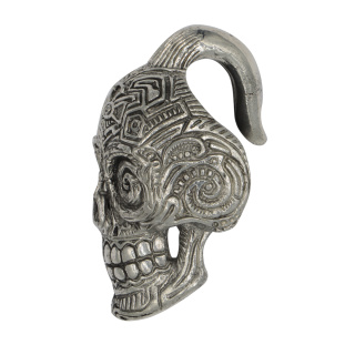 Catherina Skull Ear Weight brass